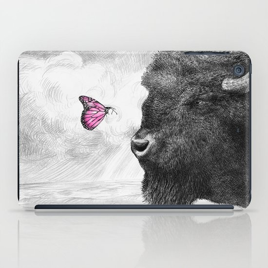 Bison and Butterfly iPad Case