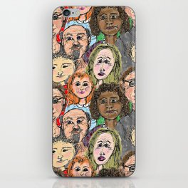 Multicultural Crowd iPhone Skin