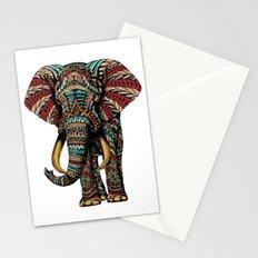 Ornate Elephant (Color Version) Stationery Cards