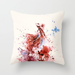 Underwater rainbow : The king of the sea Throw Pillow