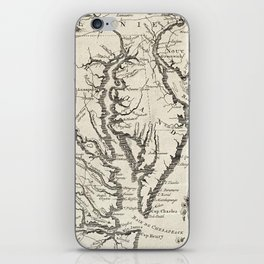 Vintage Map of The Chesapeake Bay (1780) iPhone Skin