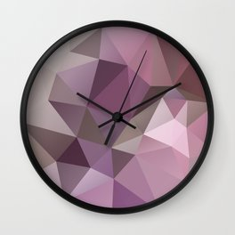 Abstract background of triangles polygon wallpaper in pink beige colors Wall Clock