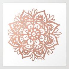 Rose Gold Mandala Art Print