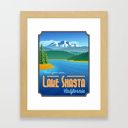 Landmarks of Life: Lake Shasta Framed Art Print