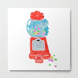 Bubble gum machine. Metal Print