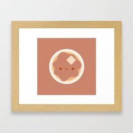 Pancake for breakfast! Framed Art Print