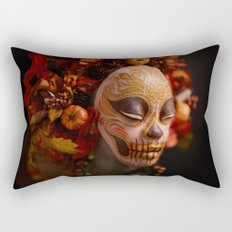 Pumpkin Harvest Muertita Detail Rectangular Pillow