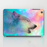 hobbes iPad Cases featuring Breathing Dreams Like Air (Wolf Howl Abstract) by soaring anchor designs