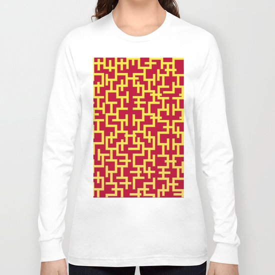 Colorful Maze II Long Sleeve T-shirt