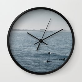 Early Morning Surfer's Bliss Wall Clock