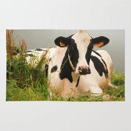 Holstein cow facing camera Rug