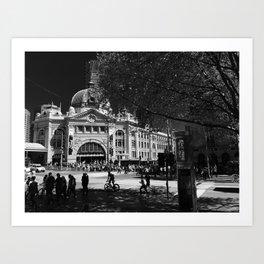 Flinders Street Station Art Print