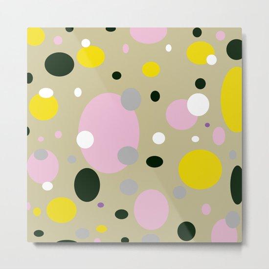 Polka Dots - Colorful - Retro - Fun Metal Print