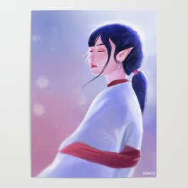 Glowing Elf Lady Poster