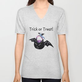 Blue Trick or Keet (With Text) Unisex V-Neck