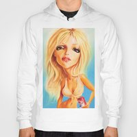 britney spears Hoodies featuring Britney Spears by Patrick Dea