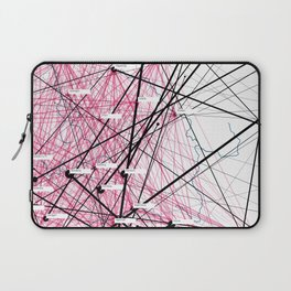 »Where« – Data visualization of a social network Laptop Sleeve