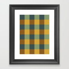Pixel Plaid - Winter Walk Framed Art Print