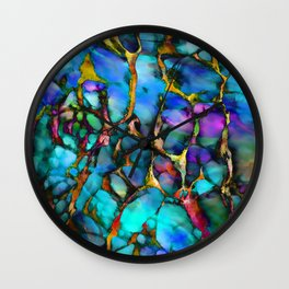Colored Tafoni 2 Wall Clock