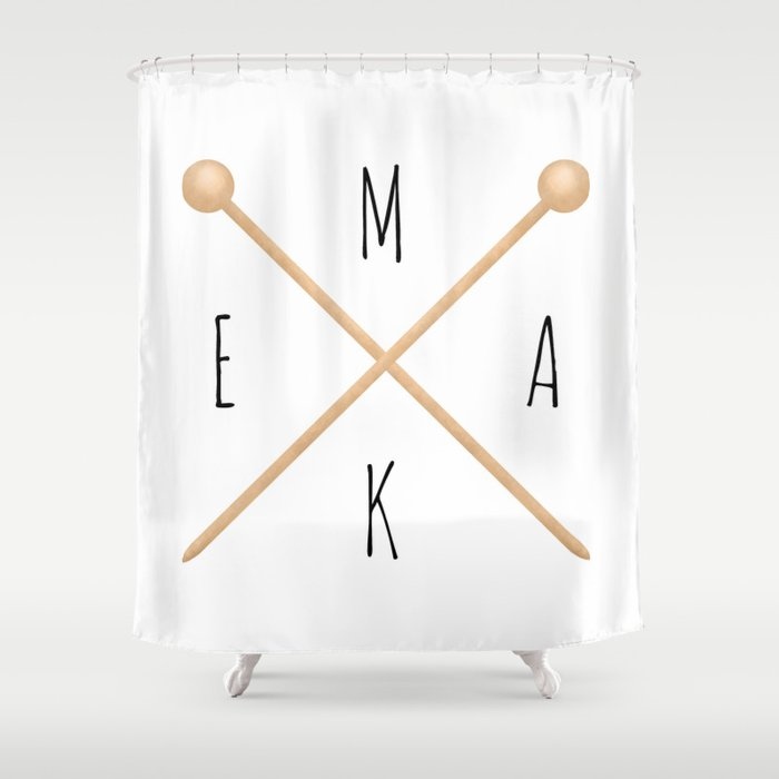 MAKE  |  Knitting Needles Shower Curtain