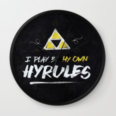 Legend of Zelda Inspired Type I Play by My Own Hyrules Wall Clock