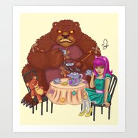 Tibber's Tea Party Art Print