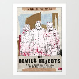 Devil's Rejects - Halloween special Art Print