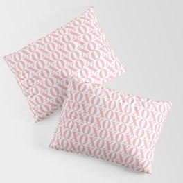Coral XOXO Pillow Sham