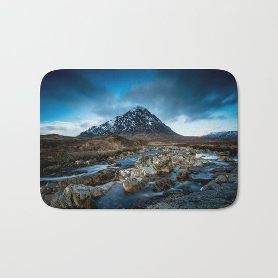 Mountain ice clouds blue Bath Mat