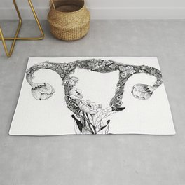 Anatomy Series: Uterus Flowers Rug