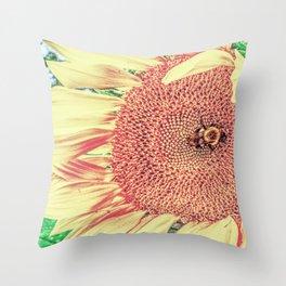 Tumblebee (Extra Sun) Throw Pillow