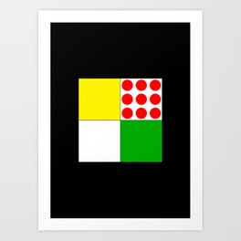 Tour de France Jerseys 1 Art Print