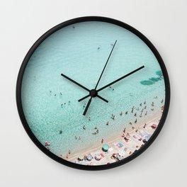 Busy Beach Wall Clock