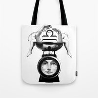 libra Tote Bags featuring Libra by Carolina Espinosa
