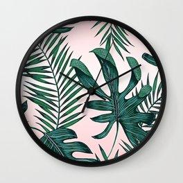 Tropic Dance - Pink Wall Clock