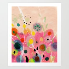 floral power abstract Art Print