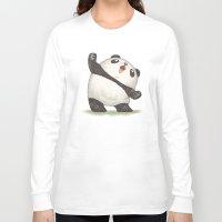 panda Long Sleeve T-shirts featuring Panda by Toru Sanogawa