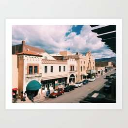 Santa Fe in March Art Print