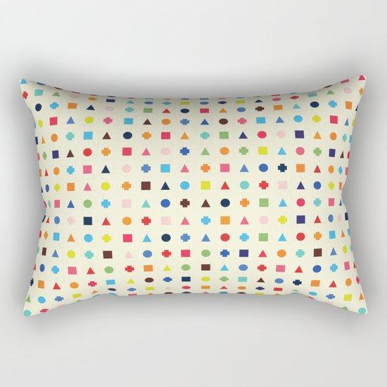 Dot Triangle Square Plus Repeat Rectangular Pillow