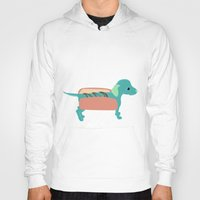 hot dog Hoodies featuring Hot Dog by JoanaFatela