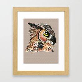 Bubo virginianus Framed Art Print