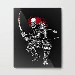Zombie Samurai (White version) Metal Print