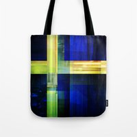 sweden Tote Bags featuring Flag: Sweden by Ambassad Collective