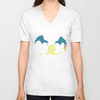 charizard V-neck T-shirts featuring Charizard by JHTY