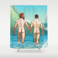 rush Shower Curtains featuring Rush by Butch McLogic