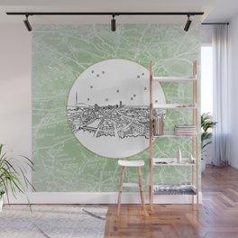 Dublin, Ireland, Europe City Skyline Illustration Drawing Wall Mural