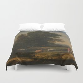 Landscape with Cephalus and Procris reunited by Diana - Claude Duvet Cover