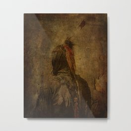 One Feather Metal Print