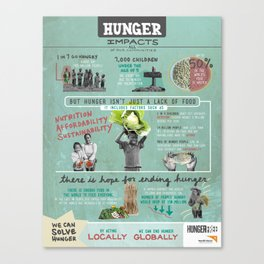 Hunger - HungerFree Infographic Canvas Print