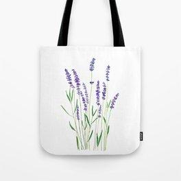 purple lavender watercolor painting Tote Bag